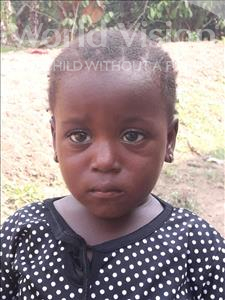 Isatu, aged 3, from Sierra Leone, is hoping for a World Vision sponsor