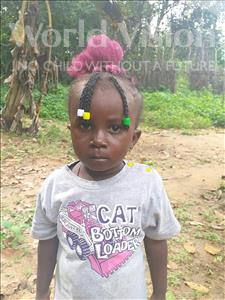 Choose a child to sponsor, like this little girl from Imperi, Janet age 3