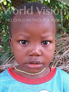 Choose a child to sponsor, like this little girl from Imperi, Ibrahim age 2