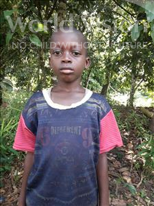 Choose a child to sponsor, like this little boy from Tegloma, Mammy age 8