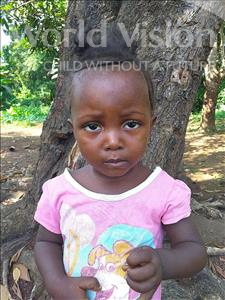 Choose a child to sponsor, like this little girl from Tegloma, Sarah age 2