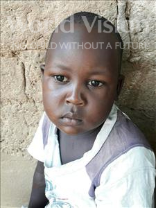 Simon Lucas, aged 5, from Tanzania, is hoping for a World Vision sponsor
