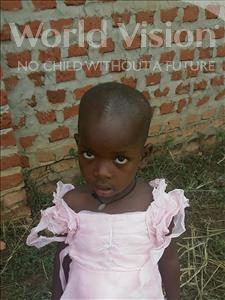 Choose a child to sponsor, like this little girl from Ntwetwe, Viola age 6