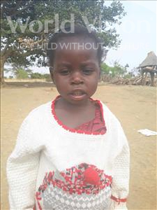 Choose a child to sponsor, like this little girl from Keembe, Aundrerd age 3