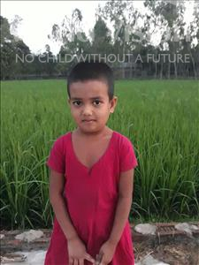 Choose a child to sponsor, like this little girl from Ghoraghat, Jui age 8