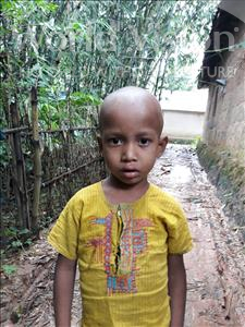 Choose a child to sponsor, like this little boy from Ghoraghat, Sojib age 4