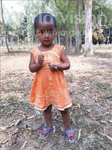 Choose a child to sponsor, like this little girl from Ghoraghat, Zamiya Afsana age 3