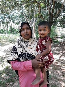 Choose a child to sponsor, like this little girl from Ghoraghat, Zakia Fima age 1