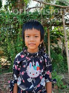 Choose a child to sponsor, like this little girl from Soutr Nikom, Samphors age 6