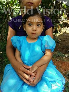 Mayreni Yamileth, aged 3, from Honduras, is hoping for a World Vision sponsor