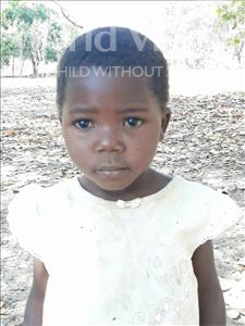 Choose a child to sponsor, like this little girl from Kazuzo, Quihie age 3