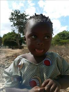 Choose a child to sponsor, like this little girl from Pheone, Teresa Evaristo age 3