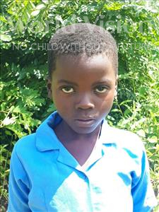 Chisomo, aged 6, from Malawi, is hoping for a World Vision sponsor