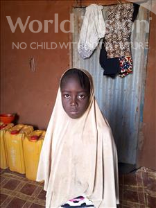 Choose a child to sponsor, like this little girl from Komabangou, Fawzia age 7