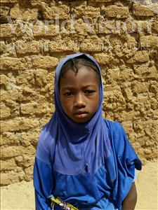 Choose a child to sponsor, like this little girl from Komabangou, Nafissa age 7