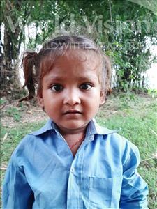 Choose a child to sponsor, like this little girl from Sarlahi, Barsha Kumari age 3