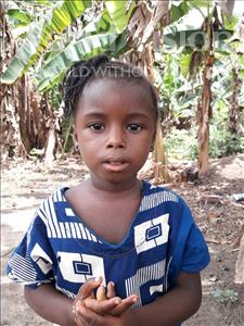 Choose a child to sponsor, like this little girl from Tegloma, Mehnia age 3