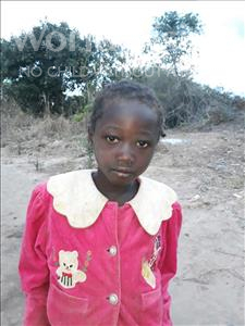 Winahs, aged 8, from Zambia, is hoping for a World Vision sponsor