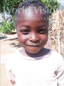 Choose a child to sponsor, like this little girl from Keembe, Jean age 6