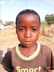 Choose a child to sponsor, like this little girl from Keembe, Flavour age 6