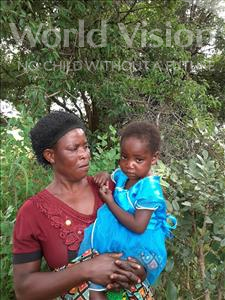 Thelma, aged 3, from Zambia, is hoping for a World Vision sponsor