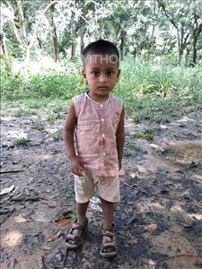 Choose a child to sponsor, like this little boy from Ghoraghat, Bondhon Chandro age 2
