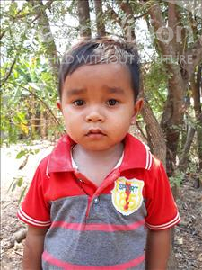 Choose a child to sponsor, like this little boy from Soutr Nikom, Kimsour age 4