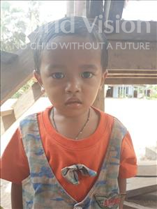 Choose a child to sponsor, like this little boy from Soutr Nikom, So Korng age 3
