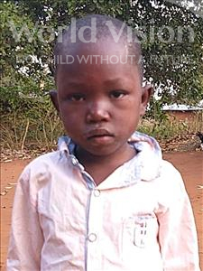 Choose a child to sponsor, like this little boy from Kazuzo, Nelcio Zrodrigues age 5