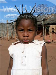 Choose a child to sponsor, like this little girl from Kazuzo, Maria Isarael age 4