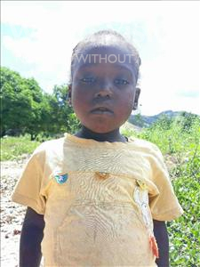 Choose a child to sponsor, like this little girl from Pheone, Sara Momade age 6