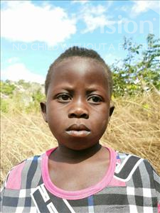 Choose a child to sponsor, like this little girl from Pheone, Gilda Joaquim age 6