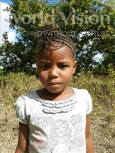 Choose a child to sponsor, like this little girl from Pheone, Milete Edgar age 7