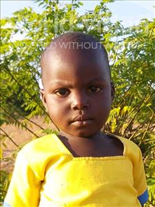 Choose a child to sponsor, like this little girl from Thundu, Princes age 3