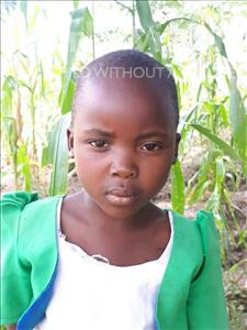 Choose a child to sponsor, like this little girl from Thundu, Estere age 7