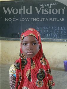 Choose a child to sponsor, like this little girl from Komabangou, Badari age 8