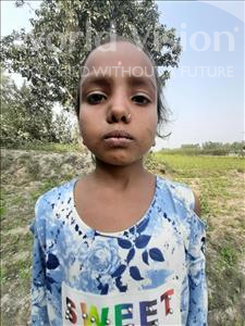 Choose a child to sponsor, like this little girl from Sarlahi, Ranjana Kumari age 5