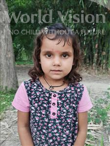 Choose a child to sponsor, like this little girl from Sarlahi, Lilu age 3