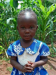 Choose a child to sponsor, like this little girl from Kibiga-Mulagi, Carlorine age 2