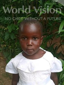 Patricia, aged 4, from Uganda, is hoping for a World Vision sponsor