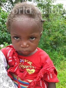 Choose a child to sponsor, like this little girl from Suwila, Usher age 2
