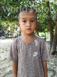 Choose a child to sponsor, like this little boy from Soutr Nikom, Sok Seng age 6