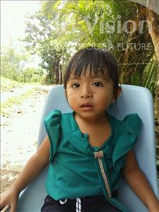 Choose a child to sponsor, like this little girl from Maya, Yenifer Abigail age 2