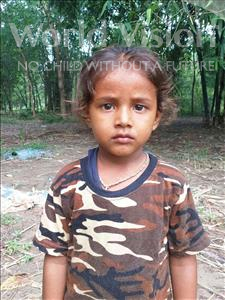 Choose a child to sponsor, like this little boy from Sarlahi, Amarjit age 3