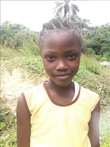 Choose a child to sponsor, like this little girl from Jaiama Bongor, Makaday age 7