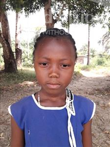 Choose a child to sponsor, like this little girl from Jaiama Bongor, Isata age 7
