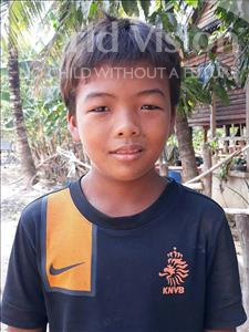 Choose a child to sponsor, like this little boy from Soutr Nikom, Sothea age 11