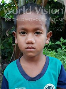 Choose a child to sponsor, like this little boy from Soutr Nikom, Vireak age 6
