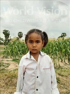 Choose a child to sponsor, like this little girl from Soutr Nikom, Nita age 5