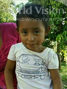 Choose a child to sponsor, like this little girl from Maya, Yeslin Karina age 5